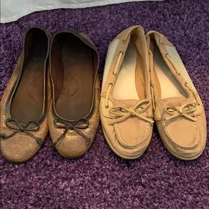 2 pairs used of flats size8